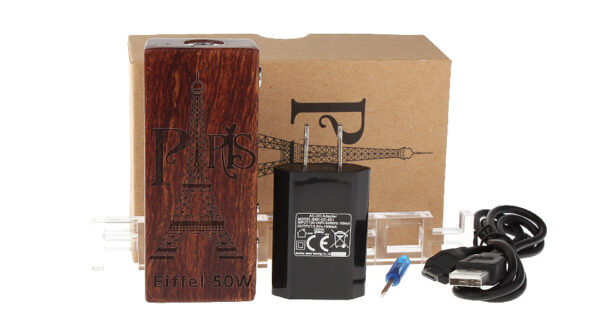 Eiffel 50W 2000mAh VW Variable Wattage Wood APV Box Mod
