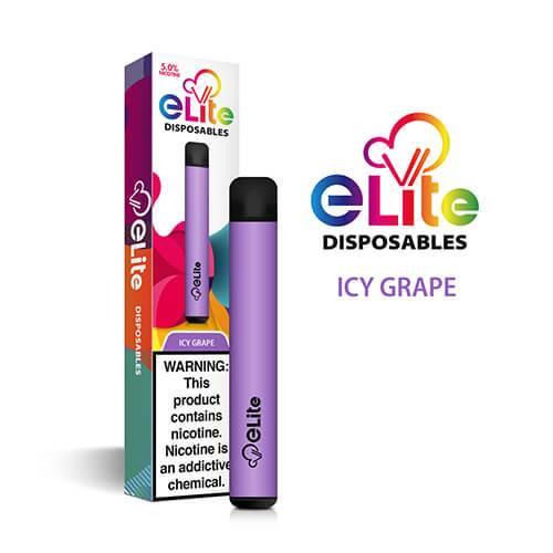Elite Disposables - Disposable Vape Pen - Icy Grape - Single / 50mg