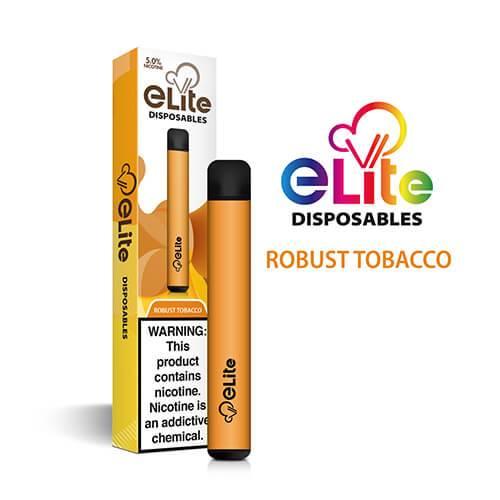 Elite Disposables - Disposable Vape Pen - Robust Tobacco - Single / 50mg