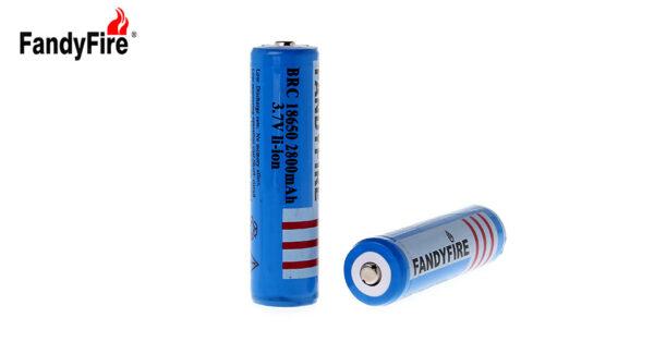 "FandyFire BRC 18650 3.7V ""2800mAh"" Rechargeable Li-Ion Battery (2-Pack)"