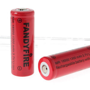 "FandyFire IMR 18500 3.7V ""1300mAh"" Rechargeable Li-Ion Batteries (2-Pack)"