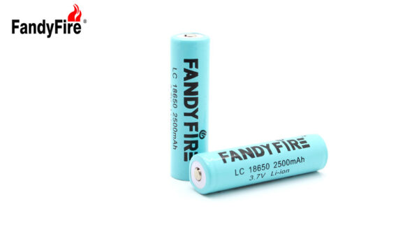 "FandyFire Protected 18650 Rechargeable 3.7V ""2500mAh"" Li-Ion Batteries"