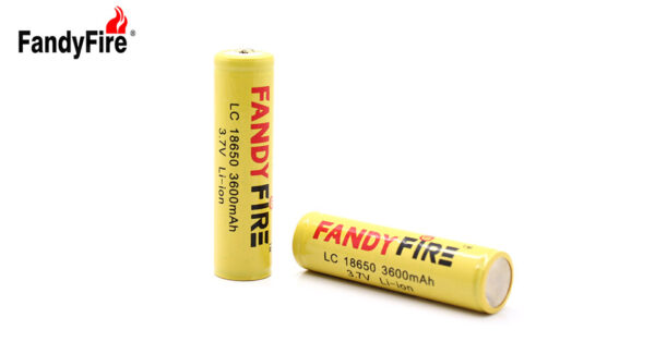 """FandyFire Protected LC 18650 Rechargeable 3.7V """"3600mAh"""" Li-Ion Batteries (2-Pack)"""