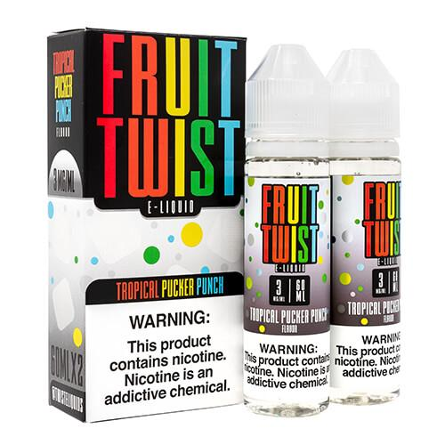 Fruit Twist E-Liquids - Tropical Pucker Punch - 120ml / 0mg
