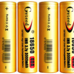 GETEED IMR 18650 3.7V 3000mAh Rechargeable Li-ion Battery (4-Pack)