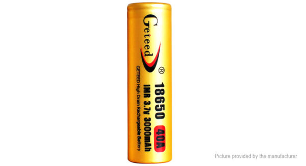 GETEED IMR 18650 3.7V 3000mAh Rechargeable Li-ion Battery