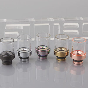 Glass + Stainless Steel 510 Drip Tip (5-Pack)