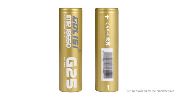 Golisi G25 IMR 18650 3.7V 2500mAh Rechargeable Li-ion Battery (2-Pack)