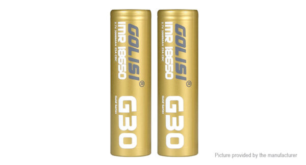 Golisi G30 IMR 18650 3.7V 3000mAh Rechargeable Li-ion Battery (2-Pack)