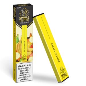 Gorilla Fruits Bar - Disposable Vape Device - Banana Custard - Single / 50mg