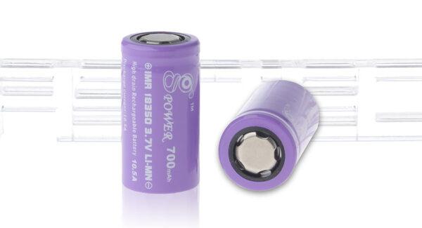 Gpower IMR 18350 3.7V 700mAh Rechargeable Li-Mn Batteries (2-Pack)