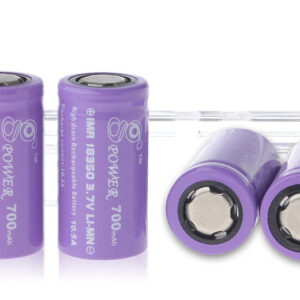 Gpower IMR 18350 3.7V 700mAh Rechargeable Li-Mn Batteries (4-Pack)