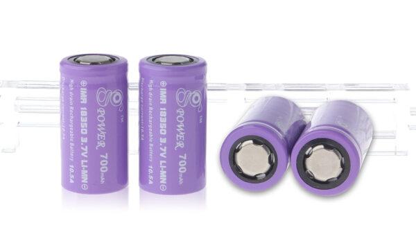 Gpower IMR 18350 3.7V 700mAh Rechargeable Li-Mn Batteries (4-Pack)