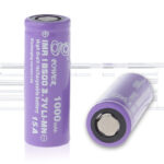 Gpower IMR 18500 3.7V 1000mAh Rechargeable Li-Mn Batteries (2-Pack)