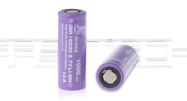 Gpower IMR 18500 3.7V 1000mAh Rechargeable Li-Mn Batteries (2-Pack)
