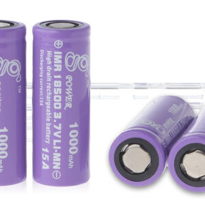 Gpower IMR 18500 3.7V 1000mAh Rechargeable Li-Mn Batteries (4-Pack)