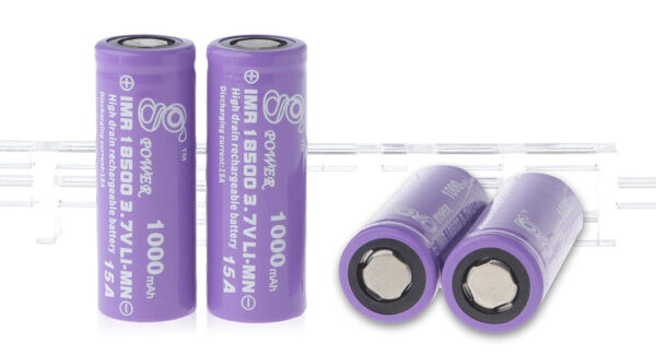 Gpower IMR 18500 3.7V 1000mAh Rechargeable Li-Mn Batteries (4-Pack)