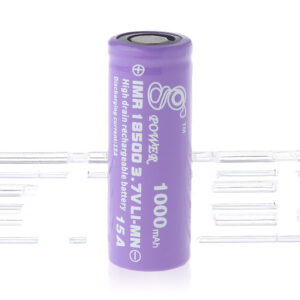 Gpower IMR 18500 3.7V 1000mAh Rechargeable Li-Mn Battery