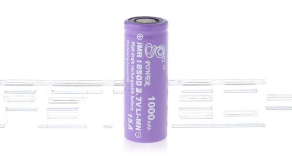 Gpower IMR 18500 3.7V 1000mAh Rechargeable Li-Mn Battery