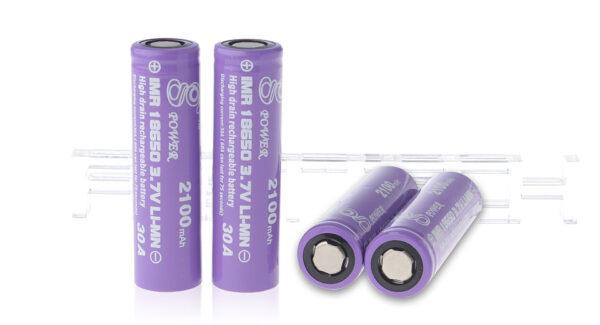 Gpower IMR 18650 3.7V 2100mAh Rechargeable Li-Mn Batteries (4-Pack)