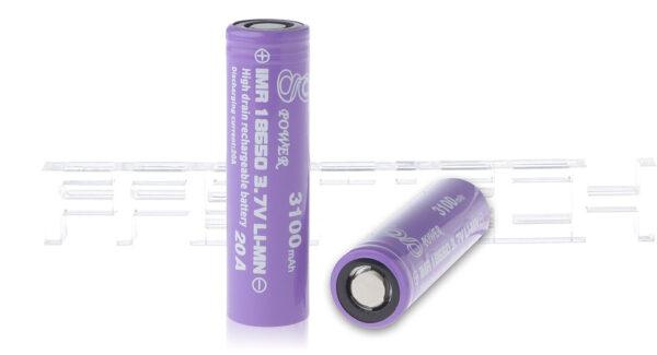 Gpower IMR 18650 3.7V 3100mAh Rechargeable Li-Mn Batteries (2-Pack)