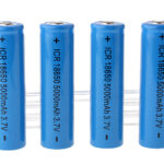 "ICR 18650 3.7V ""5000mAh"" Rechargeable Li-Ion Batteries (4-Pack)"