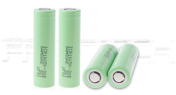ICR 18650-30B 3.7V 3000mAh Rechargeable Li-ion Batteries (4-Pack)
