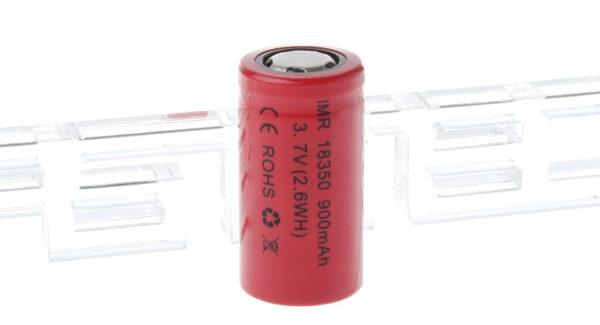 IMR 18350 3.7V 900mAh Rechargeable Li-ion Battery