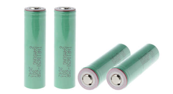 INR 18650-25R 3.6V 2500mAh Rechargeable Li-ion Battery (4-Pack)