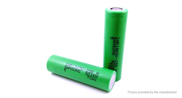 INR 18650 3.6V 2500mAh Rechargeable Li-ion Battery (2-Pack)