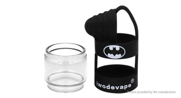 Iwodevape 2-in-1 Replacement Glass Tank + Silicone Sleeve for Uwell Crown 4 IV