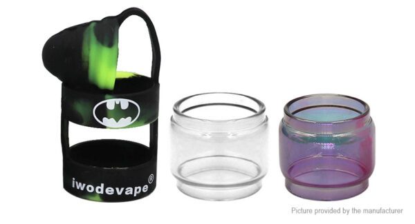 Iwodevape 3-in-1 Replacement Glass Tank + Silicone Sleeve for Horizontech Falcon