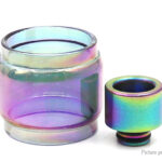Iwodevape Replacement Glass Tank + Drip Tip for SMOK TFV8 Baby