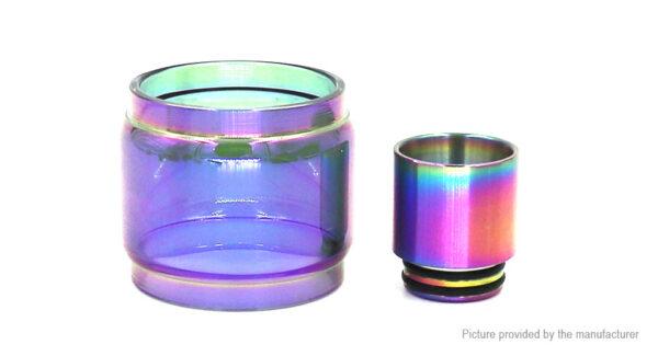 Iwodevape Replacement Glass Tank + Drip Tip for SMOK TFV8 X-Baby