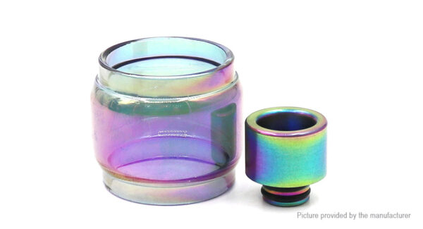 Iwodevape Replacement Glass Tank + Drip Tip for SMOK TFV8 X-Baby Beast