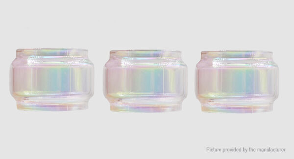 Iwodevape Replacement Glass Tank for SMOK TFV12 Prince Clearomizer (3-Pack)