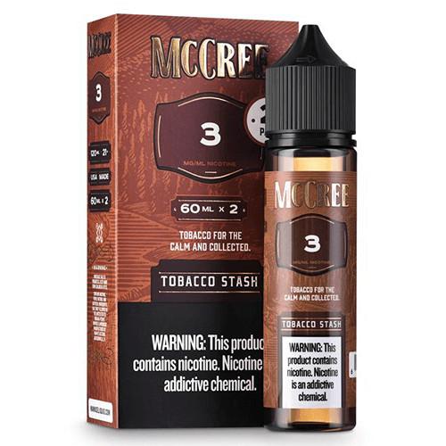 McCree E-Liquid - Tobacco Stash - 2x60ml / 0mg