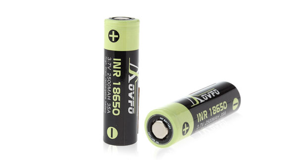 Movfo INR 18650 3.7V 2500mAh Rechargeable Li-ion Battery (2-Pack)