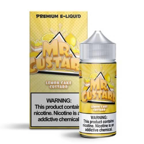 Mr. Custard Premium E-Liquid - Lemon Cake Custard - 100ml / 0mg