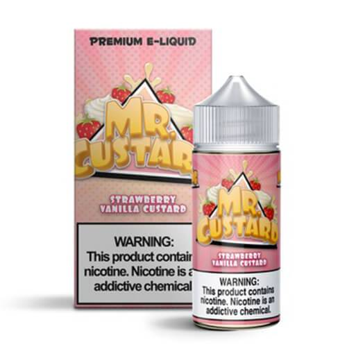 Mr. Custard Premium E-Liquid - Strawberry Vanilla Custard - 100ml / 0mg