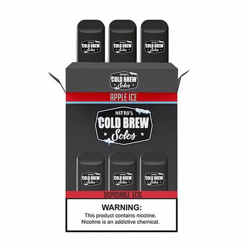 Nitro's Cold Brew Solos - Disposable Device - Apple Ice - 3 Pack / 50mg