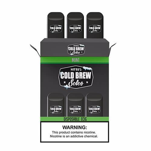 Nitro's Cold Brew Solos - Disposable Device - Mint - 3 Pack / 50mg