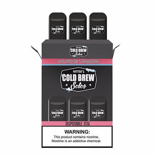 Nitro's Cold Brew Solos - Disposable Device - Watermelon Strawberry Ice - 3 Pack / 50mg