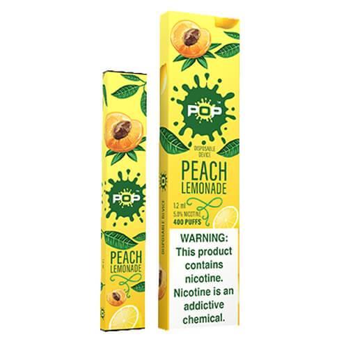 POP - Disposable Vape Pen - Peach Lemonade - Single / 50mg