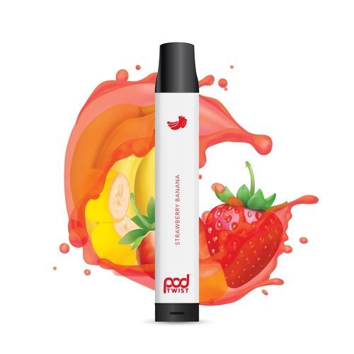 Pod Juice Twist 2500 Disposable (5.5%) - Box of 10 - Strawberry Banana