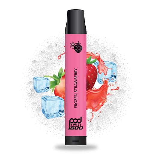 Pod Twist 1600 - Disposable Vape Device - Frozen Strawberry - Single / 55mg