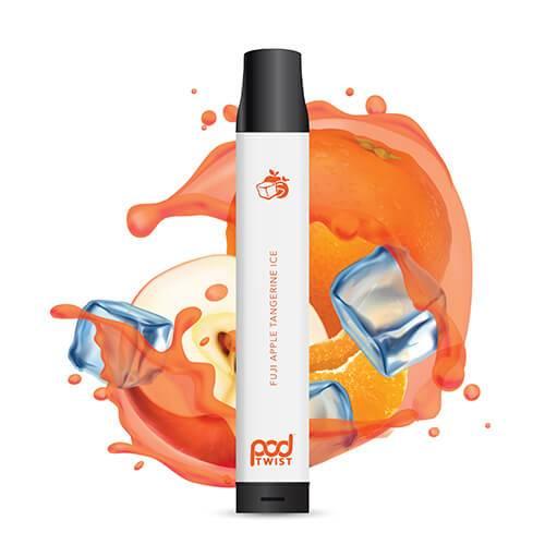Pod Twist 2500 - Disposable Vape Device - Fuji Apple Tangerine Ice - Single / 55mg