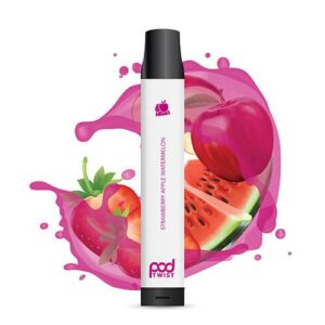 Pod Twist 2500 - Disposable Vape Device - Strawberry Apple Watermelon - Single / 55mg