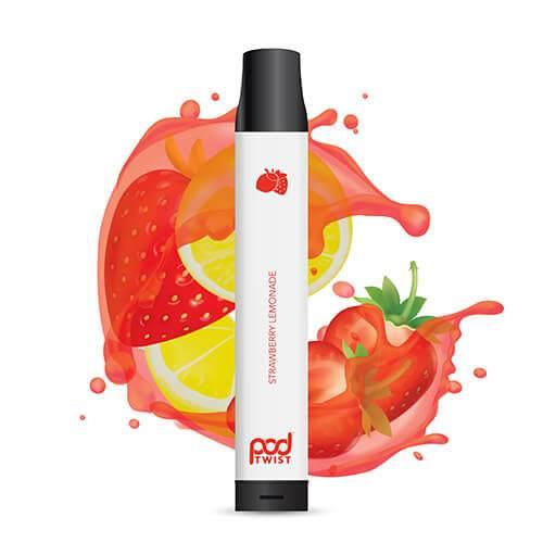 Pod Twist 2500 - Disposable Vape Device - Strawberry Lemonade - Single / 55mg