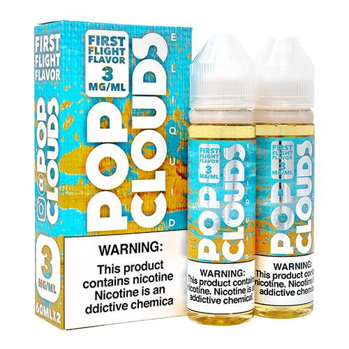 Pop Clouds E-Liquid - First Flight Candy - 2x60ml / 0mg